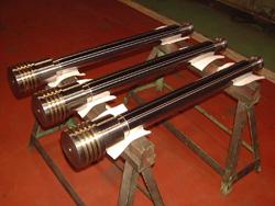 Injection cylinder piston rod